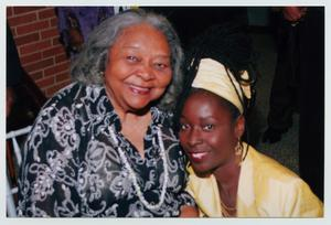 Primary view of object titled '[Juanita Moore with Unidentified Woman]'.