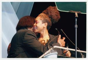 Primary view of object titled '[Curtis King on Stage with Erykah Badu]'.