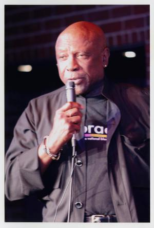 Primary view of object titled '[Louis Gossett Jr. speaking at the TBAAL Anniversary Gala]'.