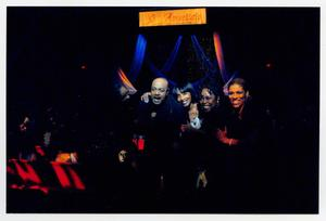 Primary view of object titled '[Peabo Bryson Posing with Guests]'.
