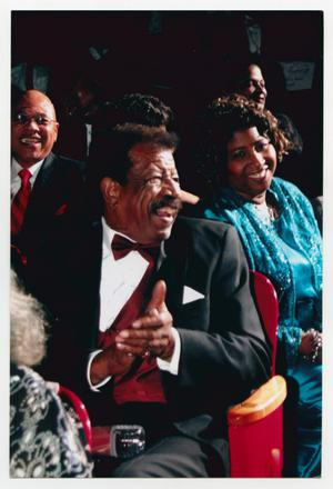 Primary view of object titled '[Photograph of Hal Williams in Audience]'.