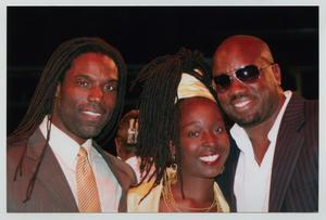 Primary view of object titled '[Phyllis Yvonne Stickney, Timothy Stickney, and Malik Yoba]'.
