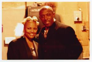 Primary view of object titled '[Kim Fields with Unidentified Guest]'.