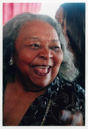 Primary view of object titled '[Closeup of Juanita Moore Smiling]'.
