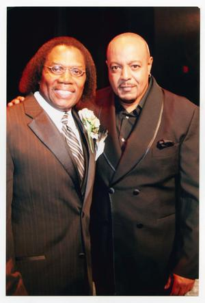 Primary view of object titled '[Curtis King and Peabo Bryson]'.