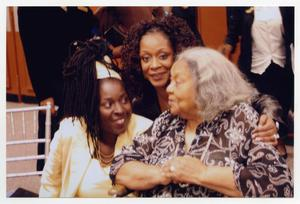 Primary view of object titled '[Juanita Moore with Phyllis Yvonne Stickney and Guest]'.