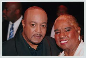 Primary view of object titled '[Peabo Bryson with Woman]'.