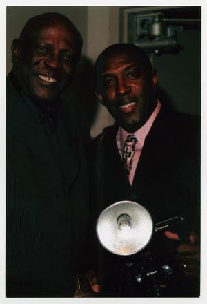 Primary view of object titled '[Louis Gossett Jr. Posing with Photographer]'.