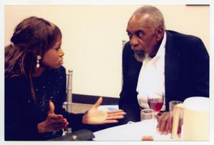 Primary view of object titled '[Bill Cobbs Speaking with Guest]'.