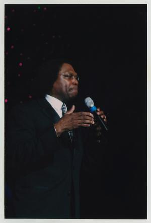Primary view of object titled '[Curtis King at TBAAL Anniversary Gala]'.