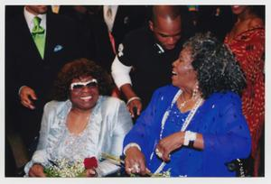 Primary view of object titled '[Albertina Walker and Irma P. Hall at TBAAL Anniversary Gala]'.
