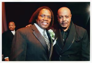 Primary view of object titled '[Curtis King with Peabo Bryson]'.