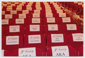 Primary view of object titled '[Reserved Seating at Gala]'.