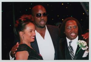 Primary view of object titled '[Ella Joyce, Malik Yoba, and Curtis King Posing for Picture]'.