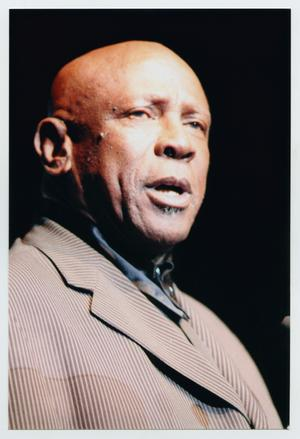 Primary view of object titled '[Louis Gossett Jr. Speaking on Stage]'.