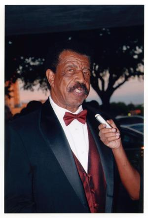 Primary view of object titled '[Hal Williams Speaking on Red Carpet]'.