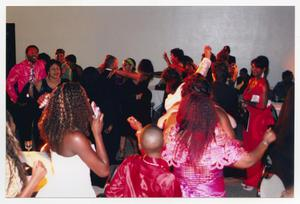 Primary view of object titled '[Several Guests Dancing in a Reception Room]'.