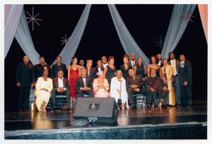 Primary view of object titled '[Large Group of Special Guests on Stage]'.