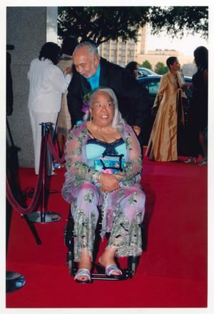 Primary view of object titled '[Della Reese Arriving at Event]'.