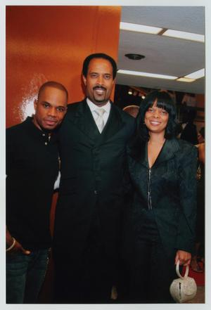 Primary view of object titled '[Kirk Franklin with Two Guests]'.