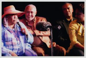 Primary view of object titled '[Della Reese on Stage with Guests]'.