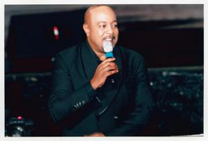 Primary view of object titled '[Peabo Bryson on Stage]'.