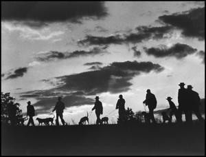 Primary view of object titled '[Hunters on the Move at Sunset (2)]'.