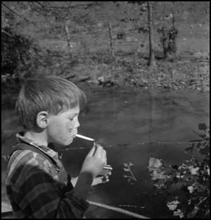 Primary view of object titled '[Smoking boy]'.