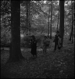 Primary view of object titled '[Walking through the woods]'.