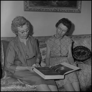 Primary view of object titled '[Two Women in the Alumni Association]'.