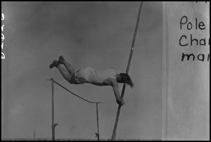 Primary view of object titled '[Student Pole Vaulting]'.
