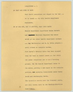 Primary view of object titled '[News Script: Mosquitos]'.