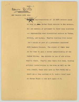 Primary view of object titled '[News Script: NATO]'.