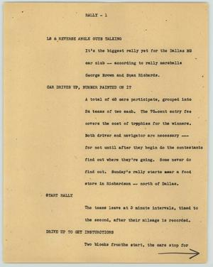 Primary view of object titled '[News Script: Rally]'.