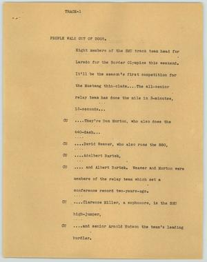 Primary view of object titled '[News Script: Track]'.