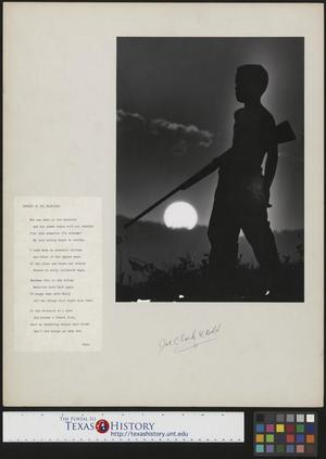 Primary view of object titled '[Mountain Boy With Rifle and Accompanying Poem]'.