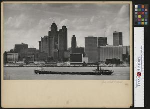 Primary view of object titled '[Detroit City Skyline May 1956]'.