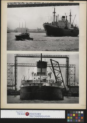 Primary view of object titled '[Two Photographs of Ships]'.