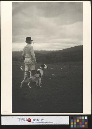 Primary view of object titled '[Pappy with Dog]'.