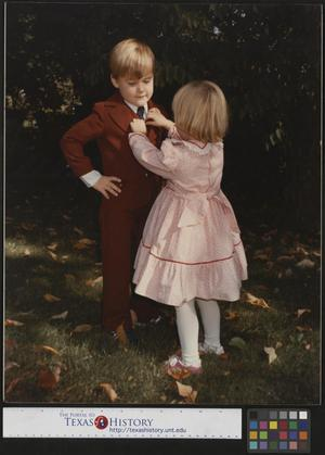 Primary view of object titled '[Children in Dress Clothes]'.