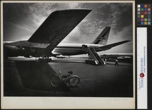Primary view of object titled '[Bike on the Airport Tarmac]'.