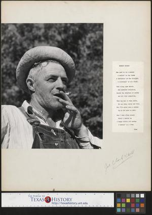 Primary view of object titled '[Man with Cigarette and Accompanying Poem]'.