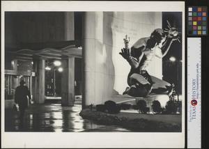 Primary view of object titled '[Unidentified man enters Detroit City County Building]'.