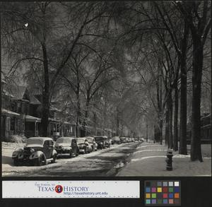 Primary view of object titled '[Snowy Avenue]'.