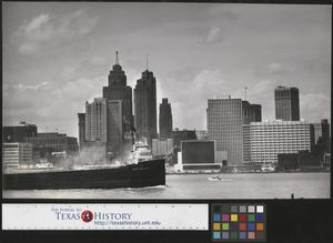 Primary view of object titled '[Detroit City Skyline 1956]'.