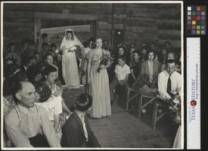 Primary view of object titled '[Hazel Petrey walking down the aisle(3)]'.