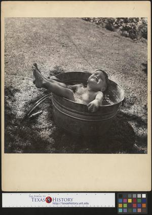 Primary view of object titled '[Junebug at Home in Wash Tub] The Backyard Bather'.