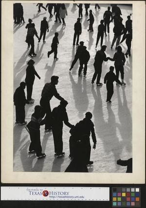 Primary view of object titled '[Ice Skaters in New York City (2)]'.