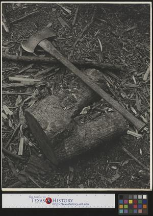Primary view of object titled '[Photograph of Axe]'.