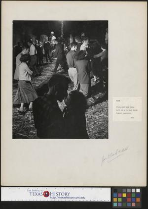 Primary view of object titled '[Couples Dancing at the Molasses Stir-off]'.